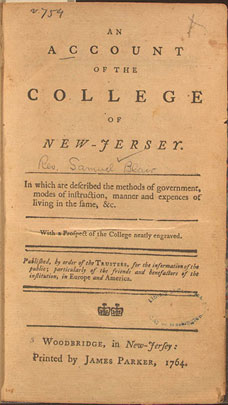 An Account of the College of New Jersey