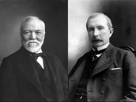 Andrew Carnegie and John D. Rockefeller