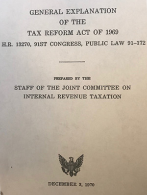 Tax Reform Act 1969 Explanation