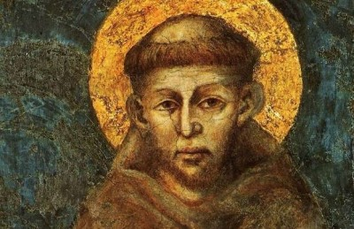 Portrait of St. Francis of Assisi (detail) by Giovanni Cimabue (c. 1285)